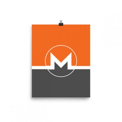 monero poster orange and black background