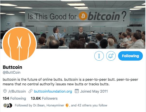 buttcoin twitter