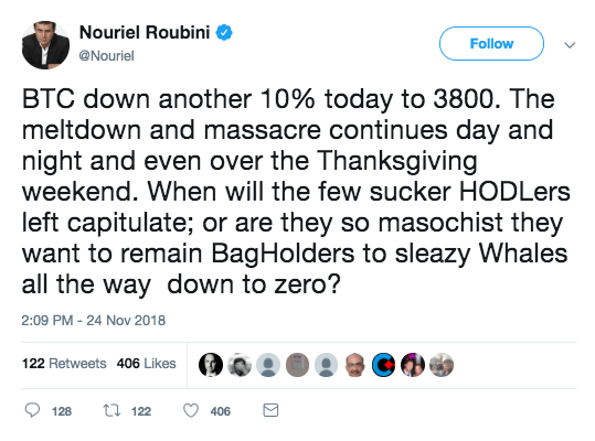 nouriel hates cryptocurrency