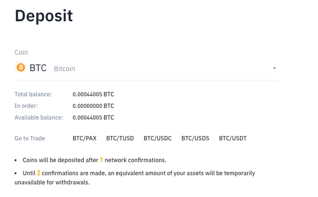 btc binance deposit