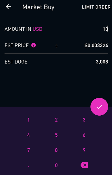 buying crypto robinhood