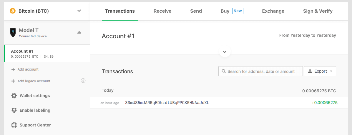 confirmed transaction model t
