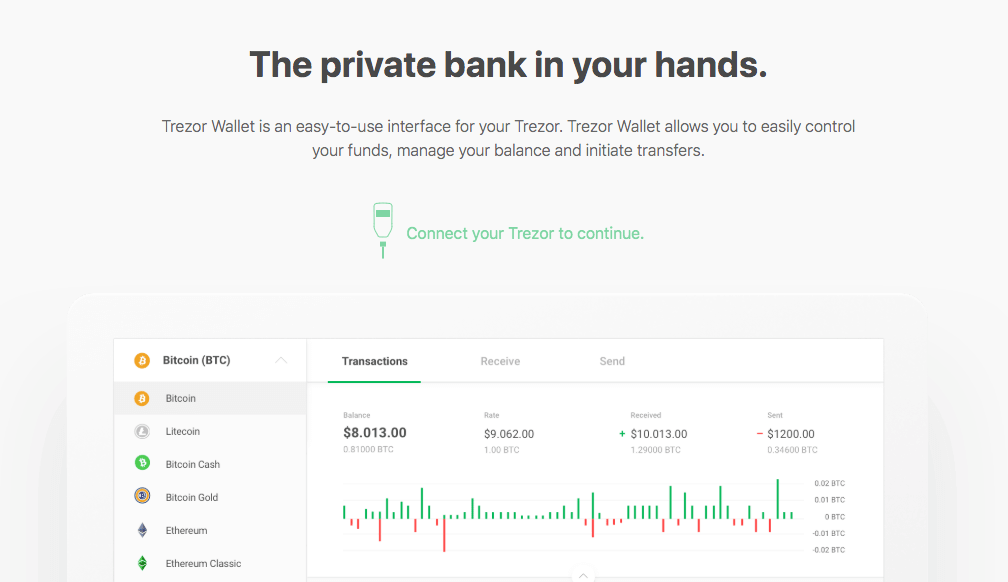 trezor wallet connect device screen