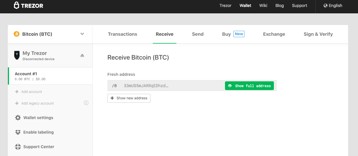 trezor wallet screenshot