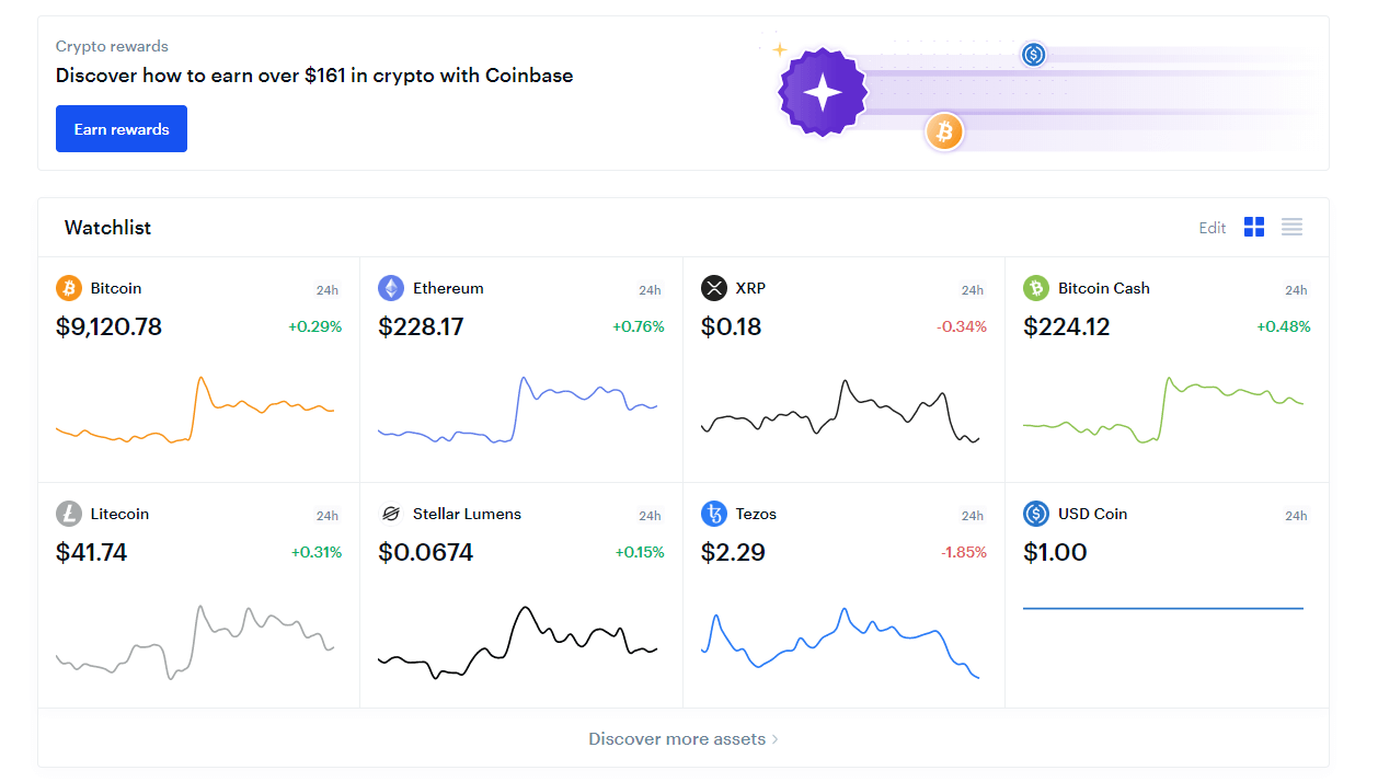 coinbase back-end altcoin selection