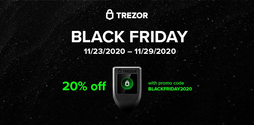 trezor black friday cyber monday code